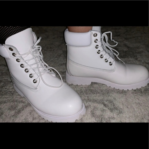 white timberland boots